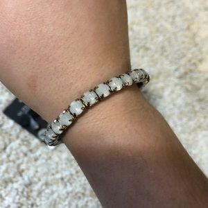 Jewelry - CZ fake opal bracelet stretches for putting on